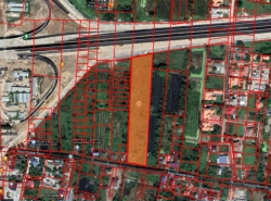 P41LA2105004 ขายที่ดิน ติดถนนพระเทพตัดใหม่ ( ด้านหลังติดคลองบางเชือกหนัง )