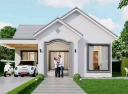 บ้านเดี่ยวหลังใหญ่พื้นที่ 108 ตารางวา ราคาสองล้านต้นๆ