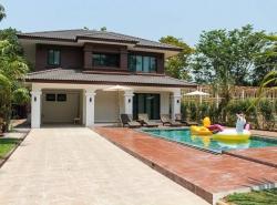 บ้านให้เช่าพูลวิลล่าในโครงการใกล้หนองจ๊อมพร้อมสระว่ายน้ำส่วนตัว